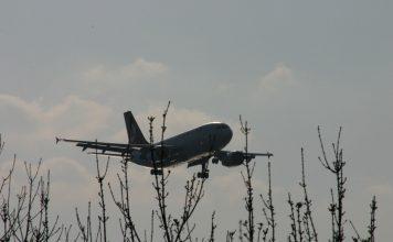 Een laagvliegende Boeing.