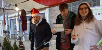 De kraam van Plant-e op de kerstmarkt van Wageningen.